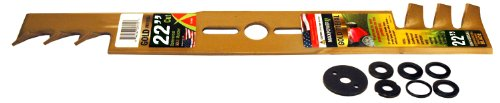 Maxpower 331982S 22-Inch Universal Gold Metal Mulching Lawn Mower Blade
