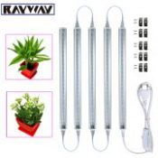 RAYWAY 5W LED Grow Light Bar + Switch Cable Red Blue 2835smd Vegetable Plant Growth Hydroponics Light T5 Tube AC85-265V 5pcs/lot