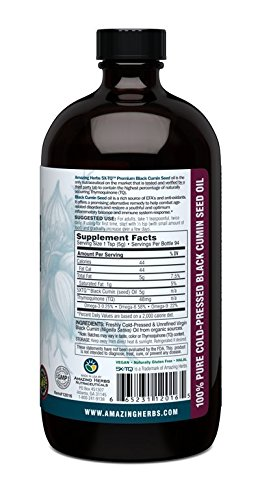 Amazing Herbs Cold-Pressed Black Seed Oil – 16oz