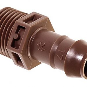 Rain Bird BA-050MPS Drip Irrigation PVC Adapter, Universal for 5/8″, 1/2″, .700″ Drip Tubing, 1/2″ (MPT) Male Pipe Thread x 1/2″ Barb