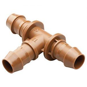 Rain Bird BT50/4PKS Drip Irrigation Universal Barbed Tee Fitting, Fits All Sizes...