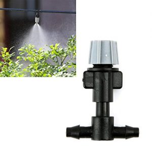 DDLBiz 20X Spray Heads Atomizing Nozzle + Tee Joints Misting Irrigation Outdoor ...