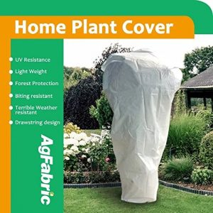 """Agfabric .95oz Fabric Large Plant Cover and Garden Fleece for Winter Frost Protection,Insect Barrier (84""""x72"""")"""
