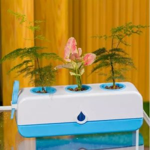 Home Creative Balcony Intelligent flower Vegetable Hydroponics system without Earth Automatic Watering Plant Growing Nursery Pot
